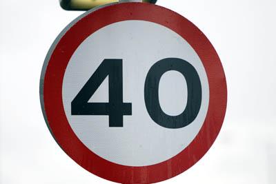 40mph limit