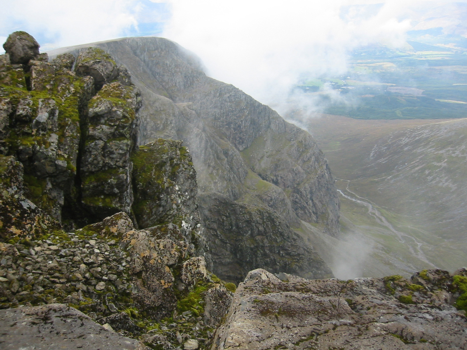 Ben Nevis's northern gullies and ridges