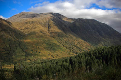 Ben Nevis, which Campbell had summited before his crash