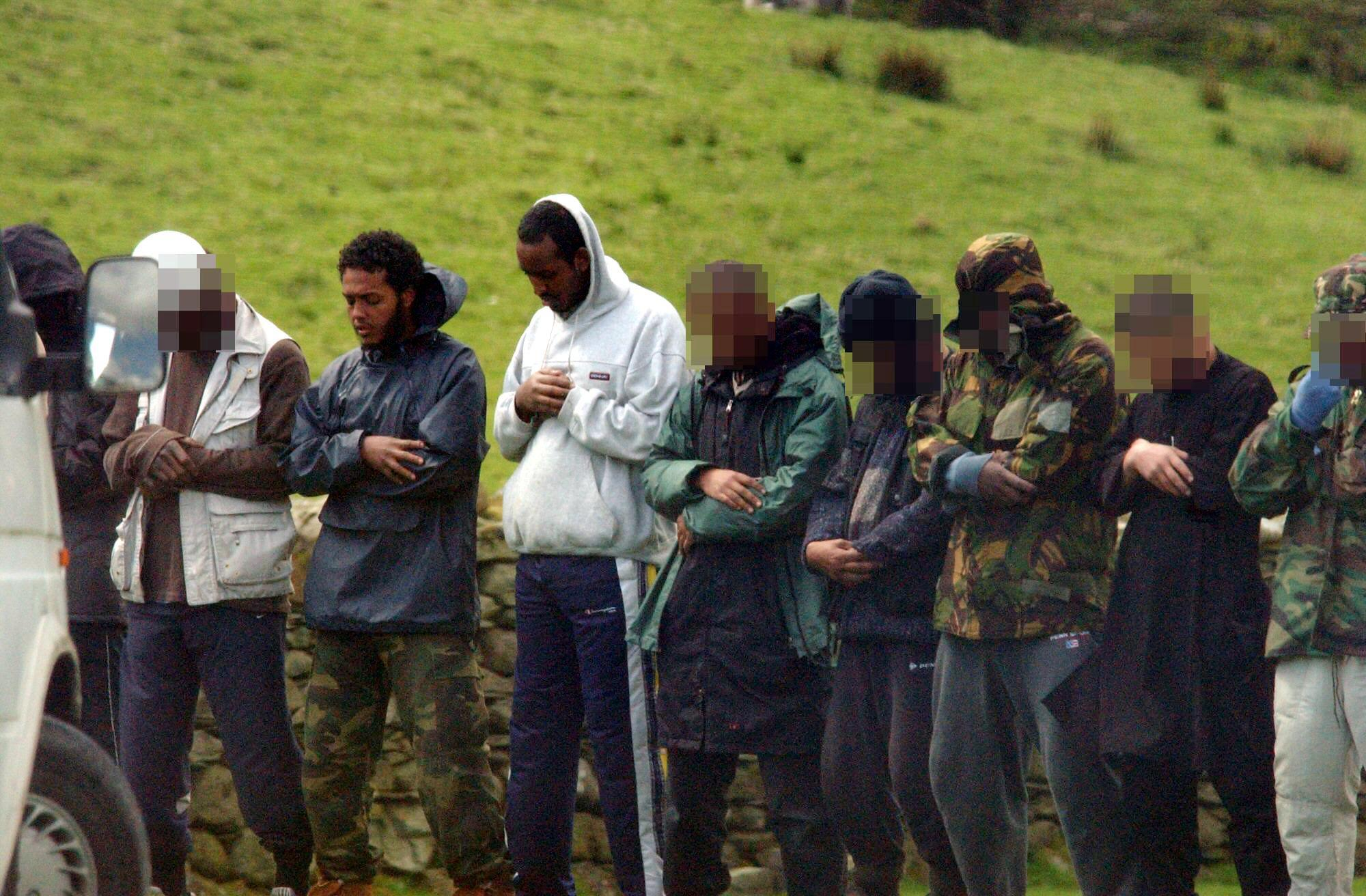 Suspects among the group photographed by police in Great Langdale