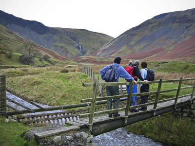 Walkers in the Howgills, Cumbria