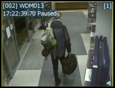 A CCTV picture of Mr Dalgleish at Windermere Station