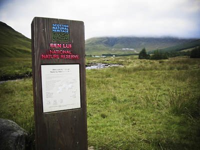 The Ben Lui National Nature Reserve at Cononish