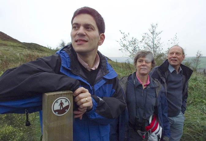 David Miliband at Brow Moor, Haworth