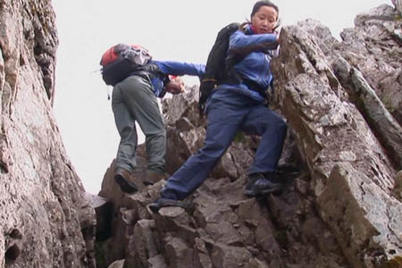 Scrambling techniques are illustrated on the DVD