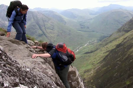 Fred and Ben tackle Aonach Eagach