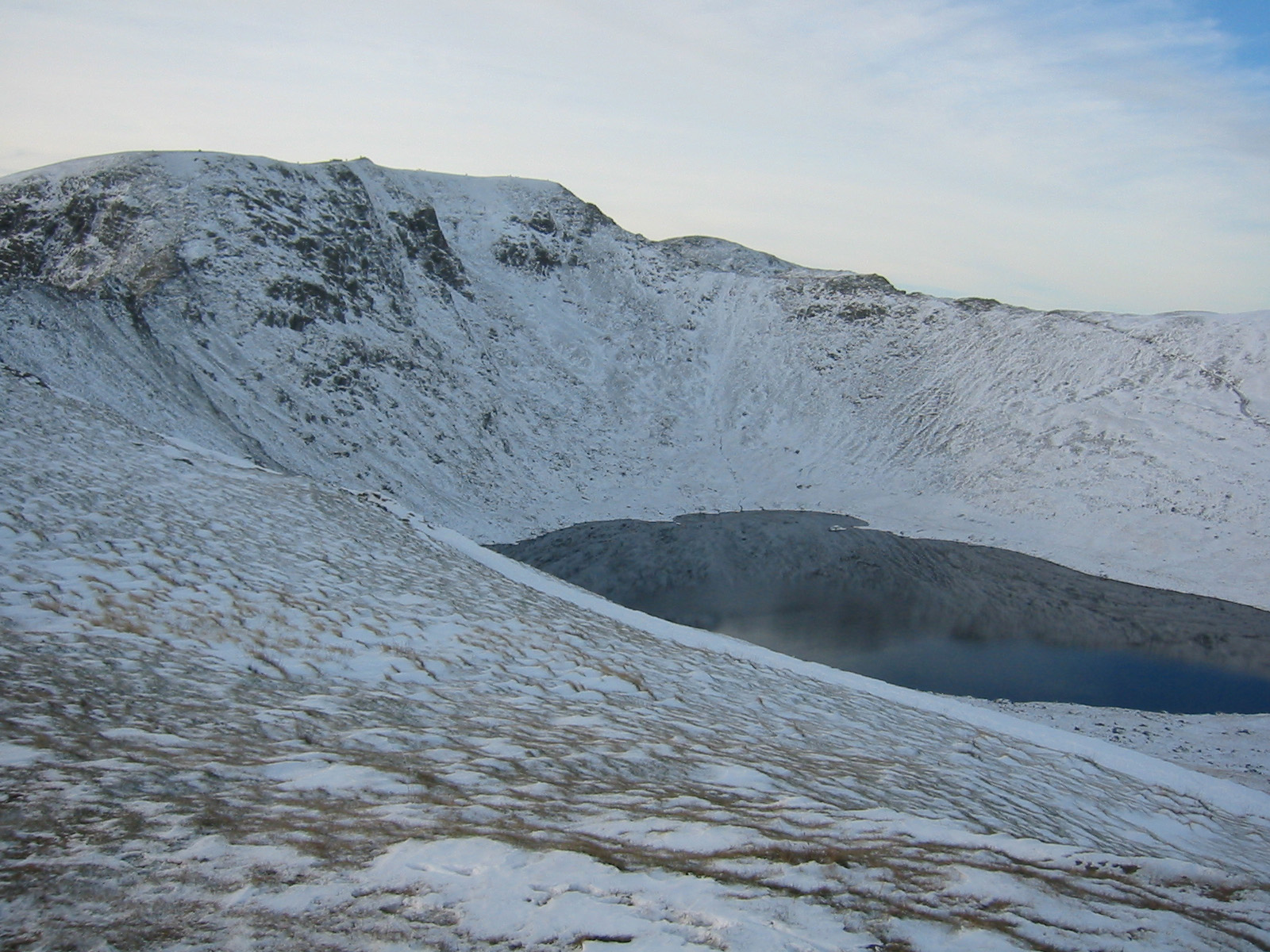Helvellyn's eastern face and Red Tarn
