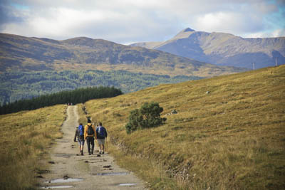 Walkers in the Scottish Highlands