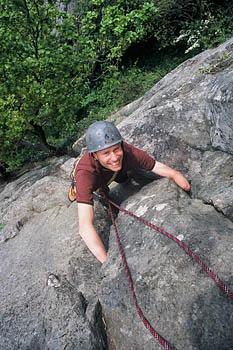 Climbing quadruple amputee Jame Andrew