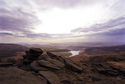 The Kinder Scout summit plateau