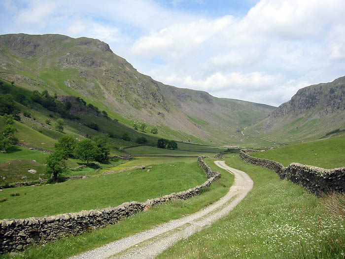 Longsleddale: starting point for the route