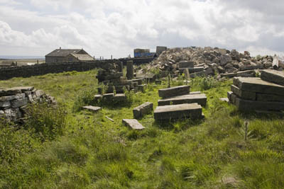 Slade Farm and its debris