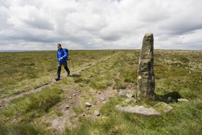 The standing stone beyond the trig point