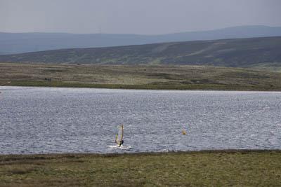 Sailboarding on Warley Moor Reservoir
