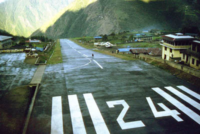 Lukla Airport with asphalted runway