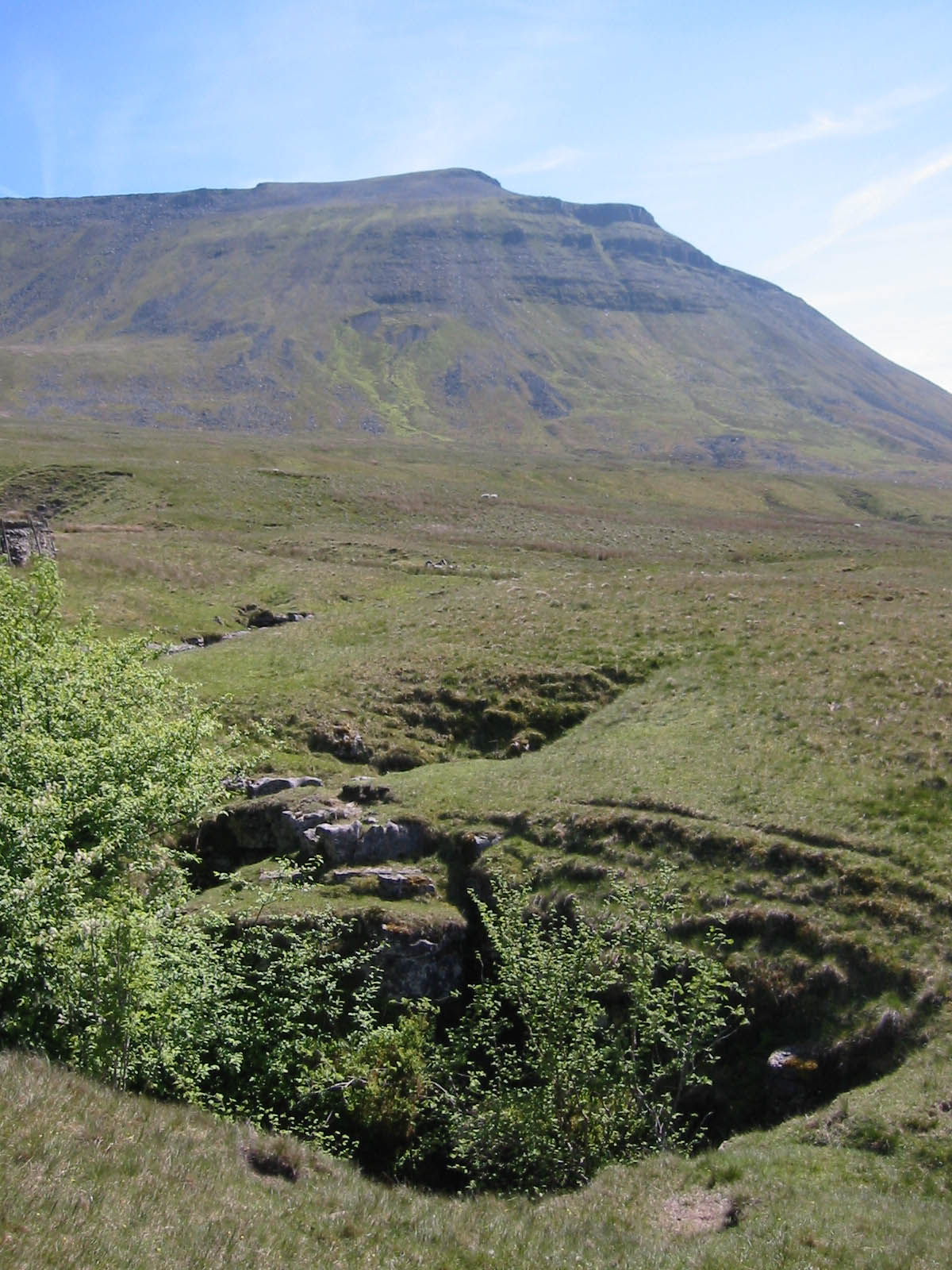 Ingleborough and Mergegill Hole in the Yorkshire Dales