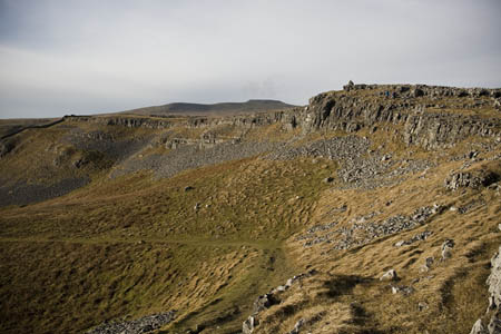 The path from Wharfe, Wainwright's route to Moughton's summit
