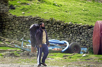 Muktar Said Ibrahim on the Great Langdale campsite