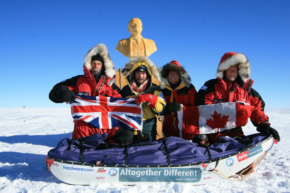 Lenin watches over the team at the Southern Pole of Inaccessibility