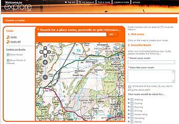 The Ordnance Survey explore website