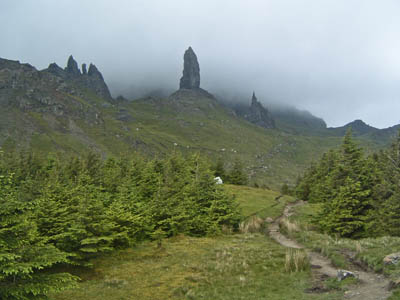 The path to the Old Man of Storr