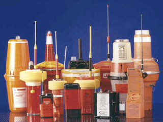 Different distress beacons, many of which are used at sea or on aeroplanes