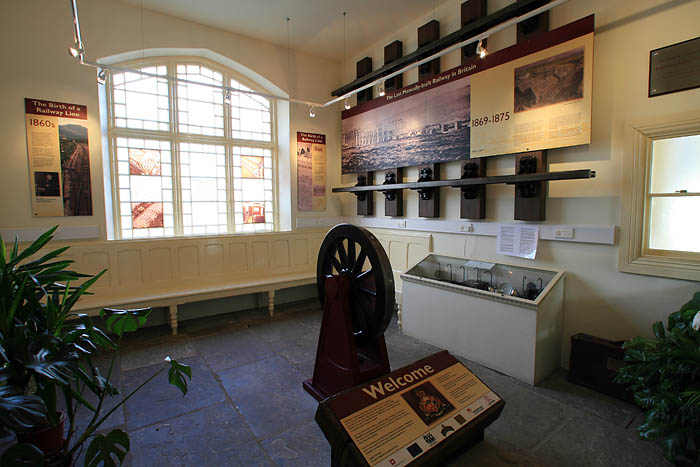 Inside the visitor centre at Ribblehead station