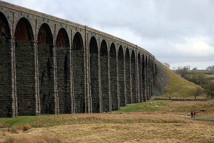 The curve of Ribblehead viaduct