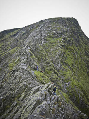 Sharp Edge, the grade-one scramble to the summit plateau of Blencathra