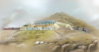 Artist's impression of new Snowdon visitor centre