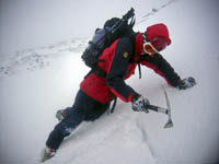 Testing the snow on Aonach Mor