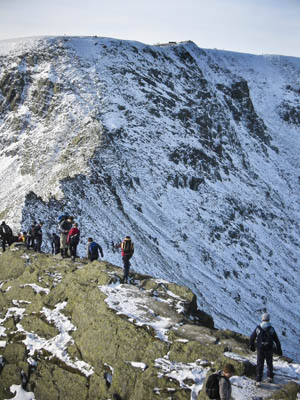 Walkers on Striding Edge