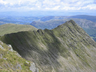 Striding Edge: a man collapsed en route for the ridge