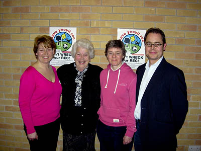 At the campaign meeting: from left, Jackie Martin, Marie Botham, Kate Ashbrook and Ashley Strelling