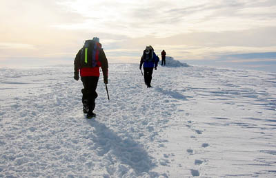 Winter walking on Aonach Mor: a good weather forecast is essential