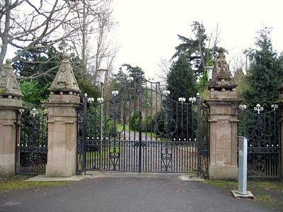 The gates at the entrance to the Boquhan estate