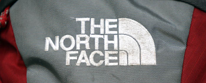 A rucksack from The North Face