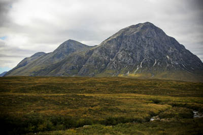 Stob Dearg, part of the Buachaille Etive Mòr range, figures in Bloomer's Challenge