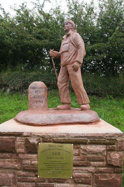 The Coast-to-Coast statue at Moor Row