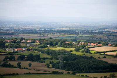 The view back across the Vale of Mowbray from the Cleveland hills
