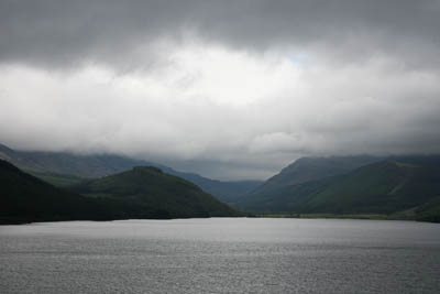 Low clouds shroud Ennerdale, seen from Ennerdale Bridge