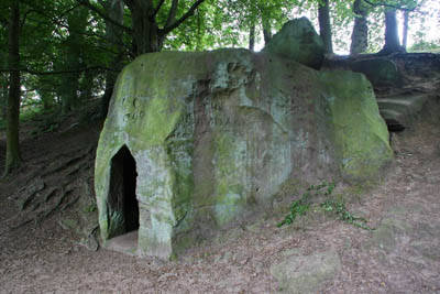 The Hermitage, carved by hand from a single boulder
