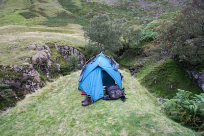 Wild camp in Far Easedale
