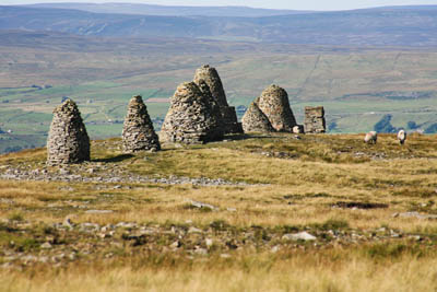 The cairns of Nine Standards Rigg, overlooking Kirkby Stephen