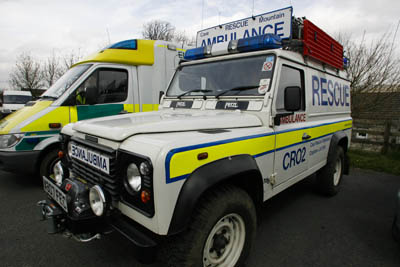 A Cave Rescue Organisation vehicle