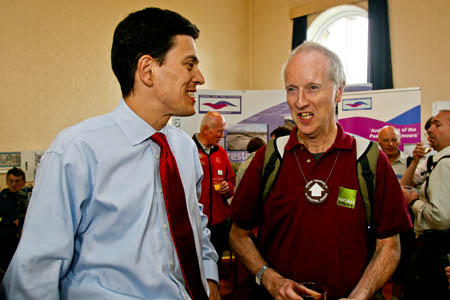 Sir Martin Doughty, right, chats with then Environment Secretary David Miliband at the Kinder event in 2007