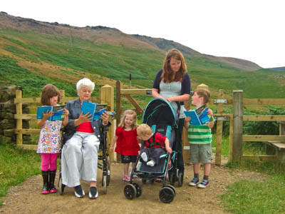 Easier access for wheelchairs and pushchairs at Dovestone Reservoir, Greenfield, near Oldham