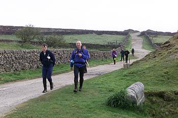 Fellsman competitors approach Yarnbury checkpoint