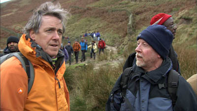 On Kinder Scout: Griff in a scene from the DVD