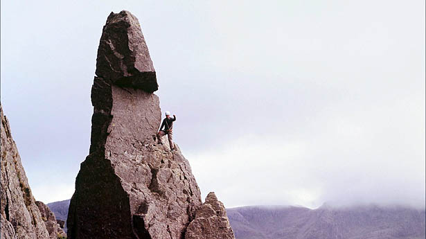 Griff Rhys-Jones climbs Napes Needle